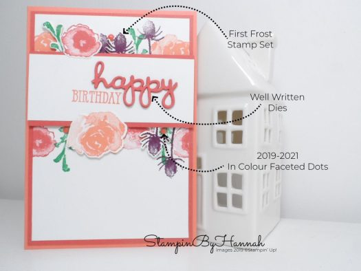 How to create a summer-y birthday card using First Frost from Stampin' Up! with StampinByHannah