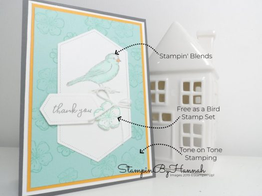 Free as a Bird coloured with Stampin' Blends by StampinByHannah