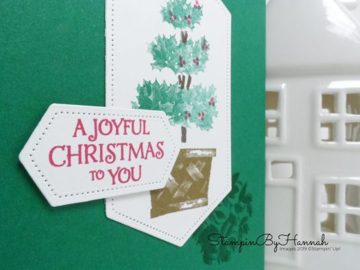 A Joyful Christmas Card using Beauty and Joy from Stampin' Up! with StampinByHannah