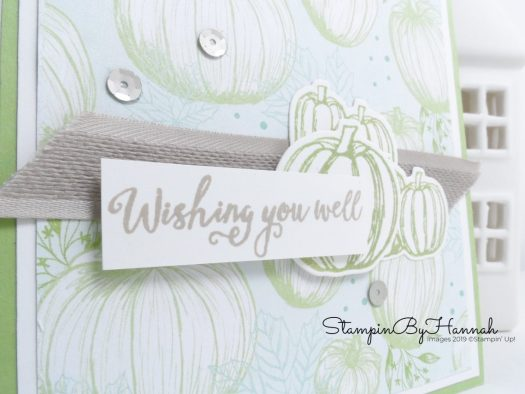 Get Well Soon card using Come to Gather from Stampin' Up! with StampinByHannah