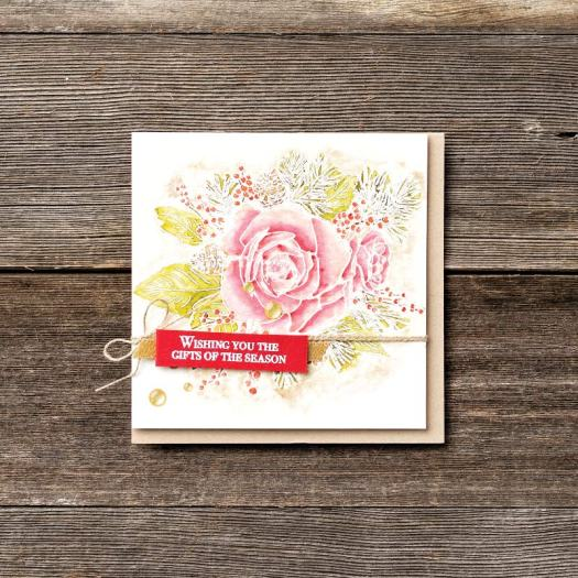 Wishing you the gifts of the season Christmas card using Christmastime is Here from Stampin' Up! with StampinByHannah