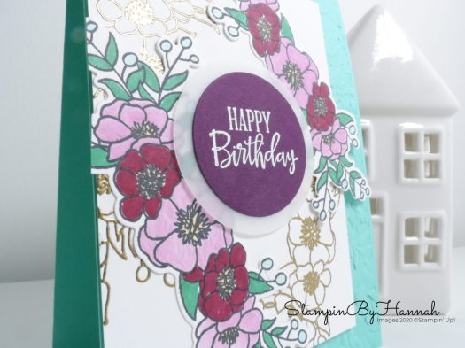 Detailed Floral Birthday Card using Bloom and Grow from Stampin' Up! with StampinByHannah