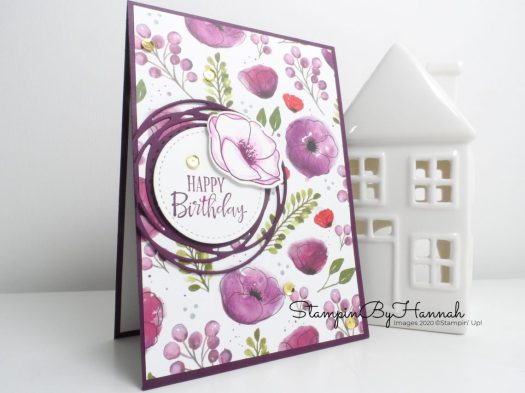 Peaceful Poppies Happy Birthday Card using Stampin' Up! products for the Pootlers Team Blog Hop with StampinByHannah