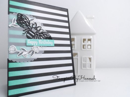 Happy Birthday card using Honey Bee from Stampin' Up! with StampinByHannah