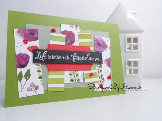 Peaceful Poppies Friendship card using Stmapin' Up! products with StampinByHannah for TGIF Challenges