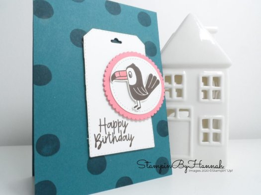 Birthday Bonanza Birthday Card for Inspire.Create.Challenge with Stampin' Up! products and StampinByHannah