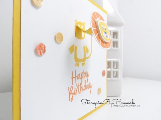 Cute Moving Card using Bonanza Buddies from Stampin' Up! for Inspire.Create.Challenge with StampinByHannah