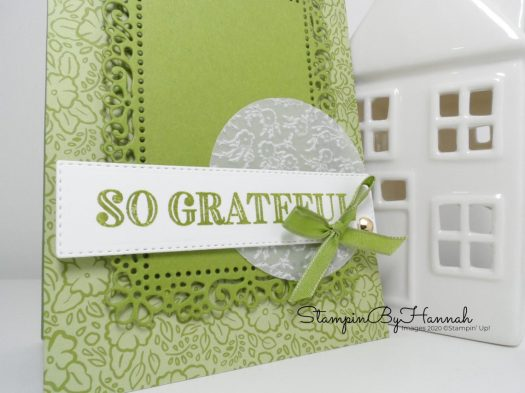 Pretty card using a sketch and Ornate Garden from Stampin' Up! for Inspire.Create.Challenge with StampinByHannah