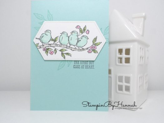 Just Because card using Free as a Bird from Stampin' Up! for the InspireINK Blog Hop with StampinByHannah