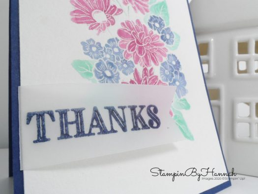 Pretty floral watercolour card using Ornate Garden from Stampin' Up! with StampinByHannah