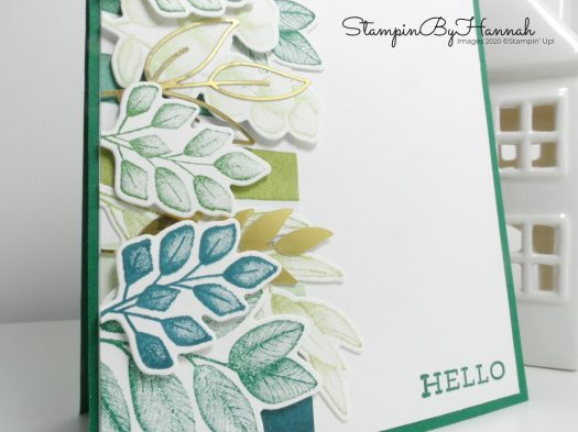 Forever Greenery Leafy card using stamps from Stampin' Up! with StampinByHannah