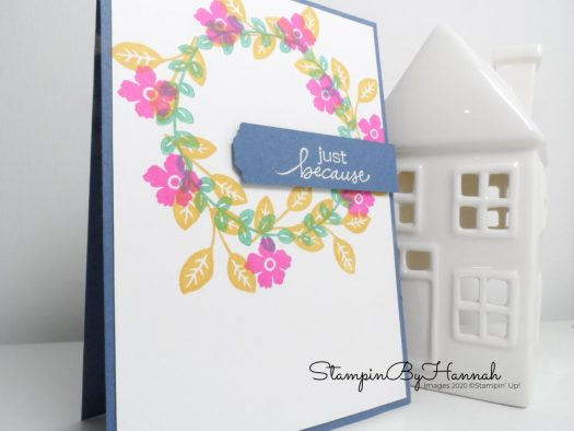 Just Because card using Lovely You from Stampin' Up! with StampinByHannah