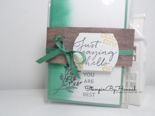 Tasteful Touches Notecards using Stampin' Up! products with StampinByHannah Facebook Live