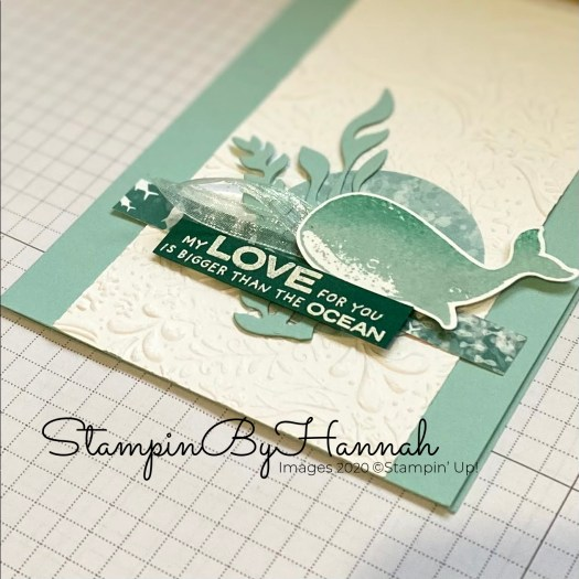 Cute Love Whale Card using Whale Done from Stampin' Up! with StampinByHannah