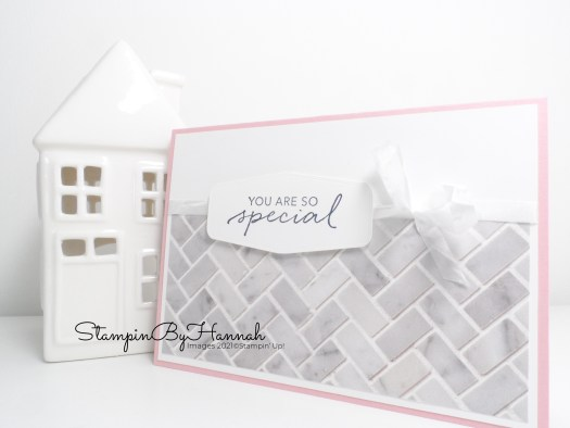 Quick and simple card using the In Good Taste Designer Series Paper from Stampin' Up! with StampinByHannah