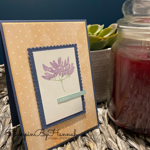 Pretty Floral handmade congratulations card using Hand Penned Petals from Stampin' Up! with StampinByHannah
