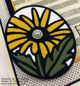 Close Up of Inlaid Daisy Timeless Tag
