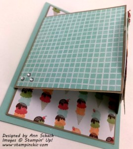 Flap one of double flap fold cool treats card