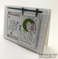 Barn Door Slider Card created with Stampin' Up!'s Barn ...