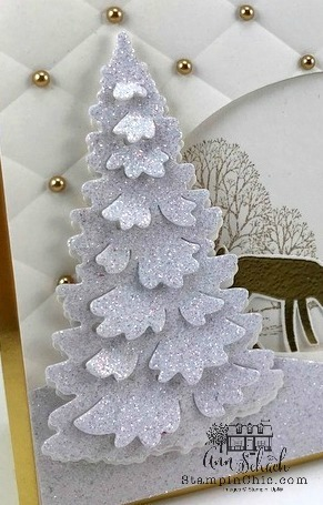 gold with sparkle Christmas card
