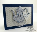 paper pieced teapot card