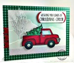 pickup truck Christmas card