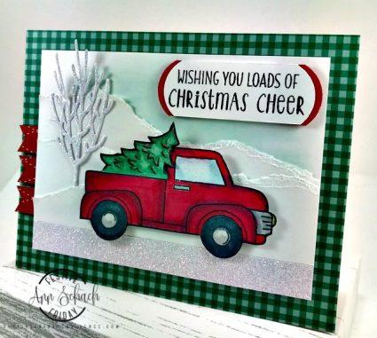 pickup truck Christmas card