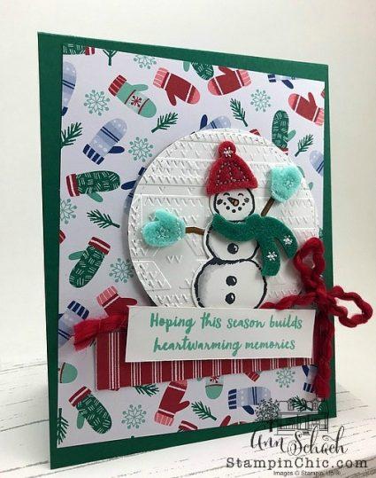 Snowman Card with Felt Accents