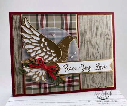 rustic elegant dove card