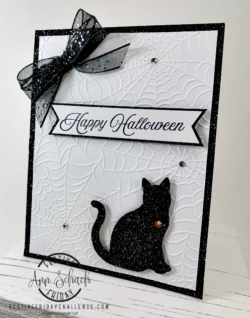 clean and simple Halloween card