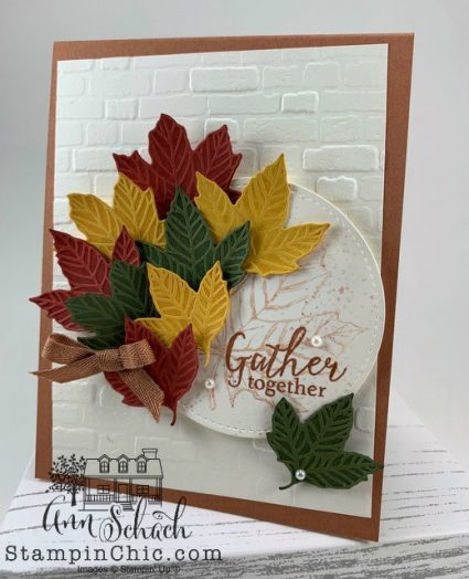 Multicolored Leaves Fall card