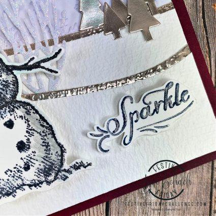 sparkly snowman card