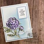peony sympathy card