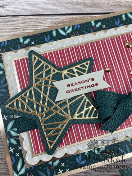 stars and stripes card Christmas style
