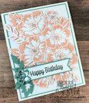 feminine, floral birthday card