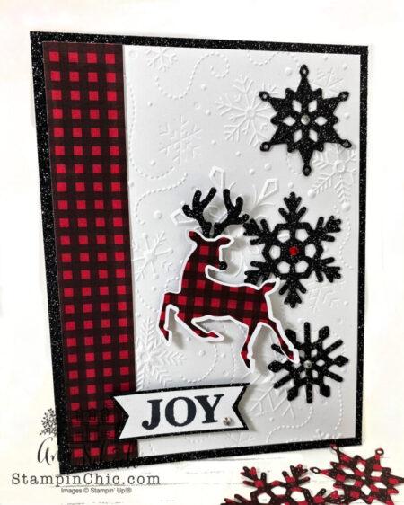 sparkly reindeer Christmas card