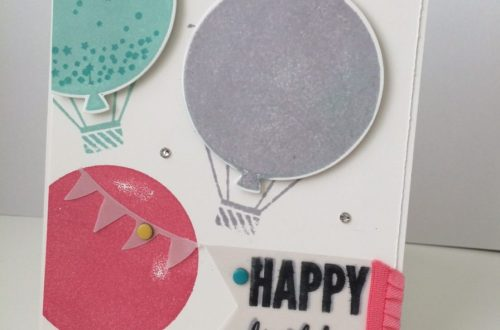 Celebrate Today Bundle birthday card with Ballon Framelits at StampinFool.com