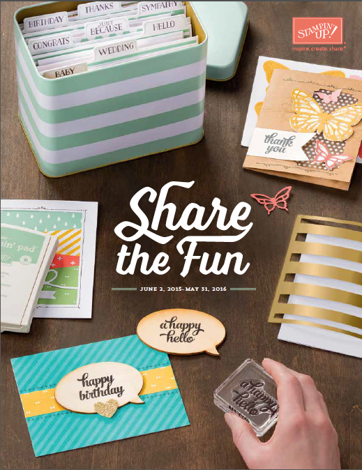 2015-2016 New Stampin Up Catalog