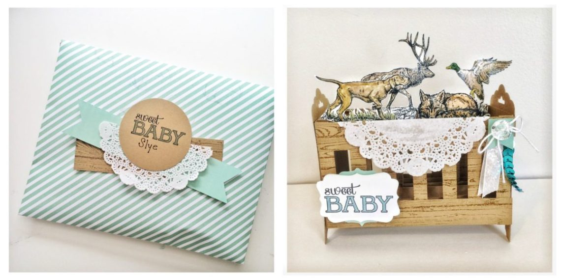 Wilderness Awaits baby card at StampinFool.com