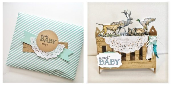 Wilderness Awaits baby card at StampinFool.com