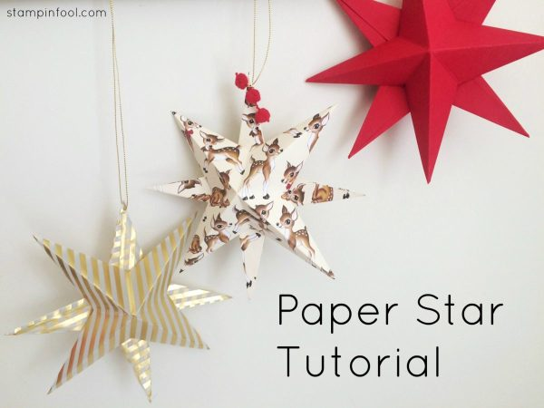 Paper Star Ornament Video Tutorial at StampinFool.com