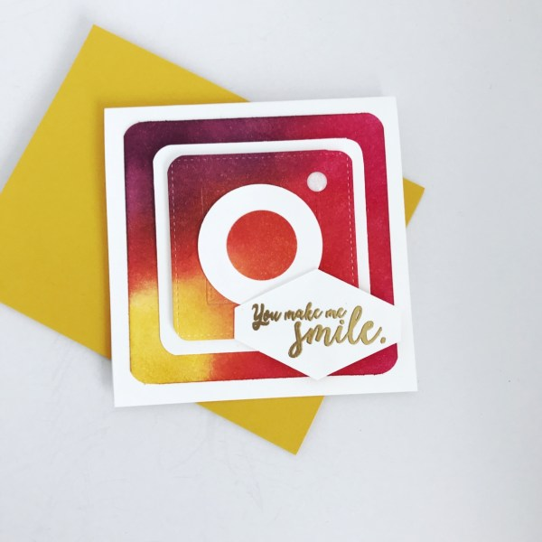 How to make DIY Instagram themed Birthday Card at StampinFool.com