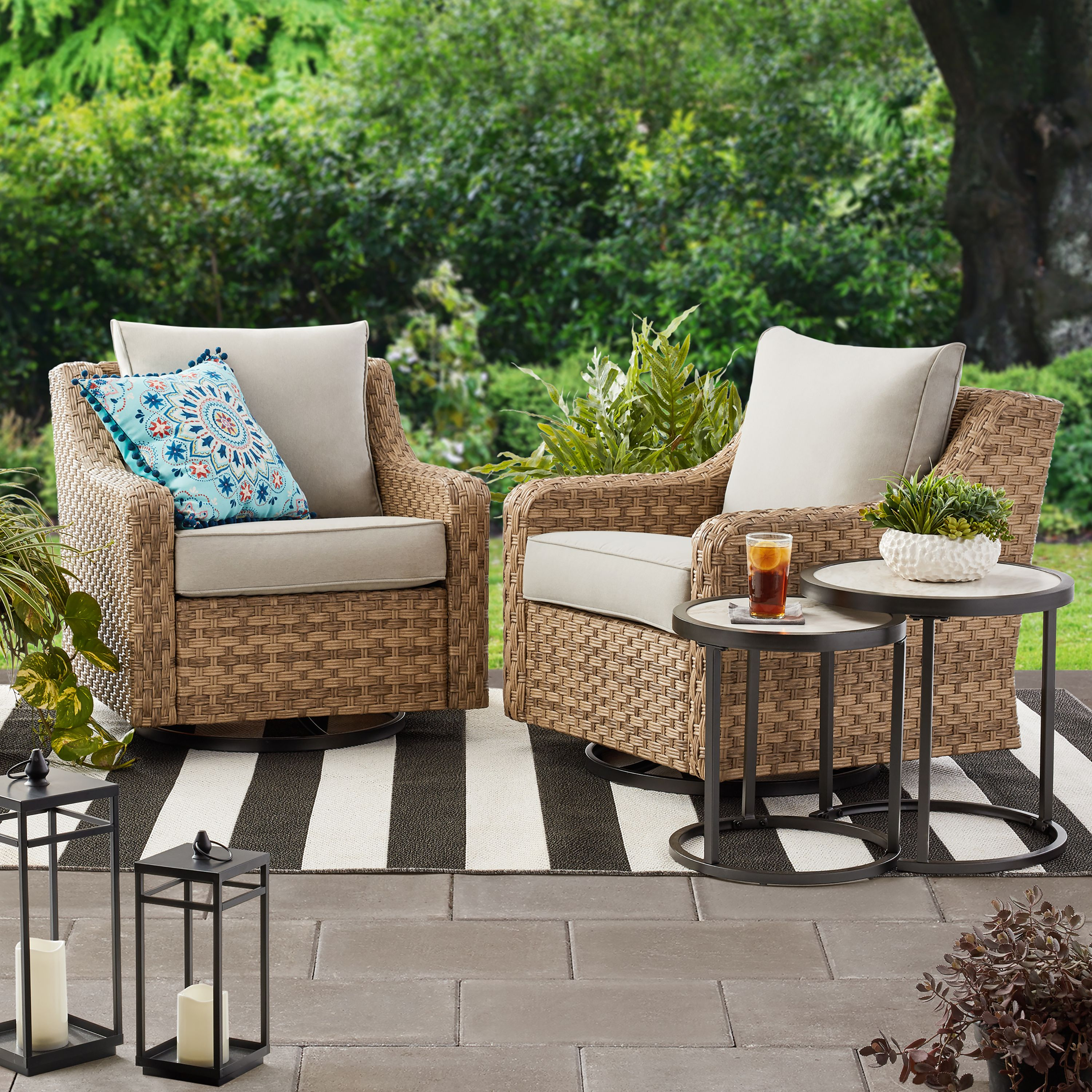 best affordable patio swivel chairs