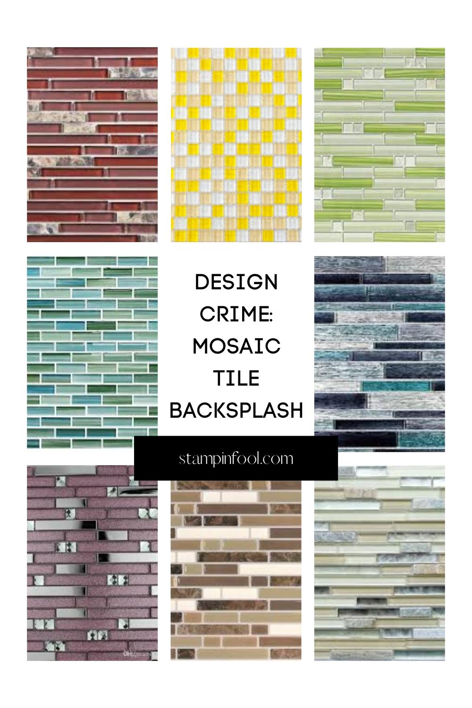 mosaic pencil tile backsplash