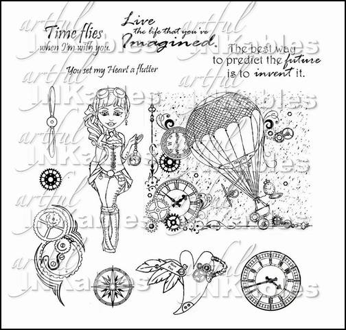 New Release and Trend: Steampunk and Artful Inkables