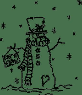 Freebie: Snowman Digital Stamp