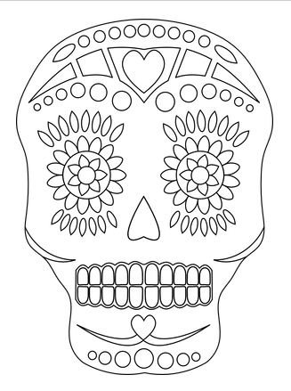 Freebie: Sugar Skull Digital Stamp