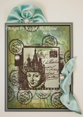 Project: Travel Card with Ribbon Accent – Stamping