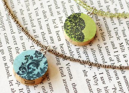 Project: Stamped Cork Pendants
