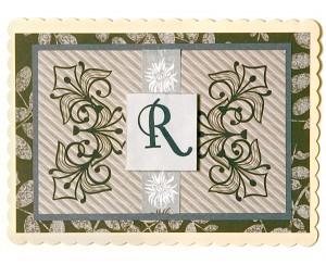Project: Monogram Gift Card Holder